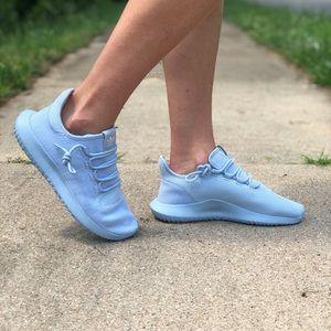 Adidas tubular shadow knit light blue